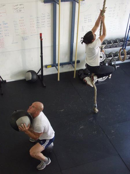 Greg Amundson's first CrossFit WOD with Greg Glassman
